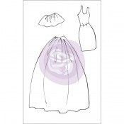 (Pre-Order) Mixed Media Doll Cling Stamp - Dress & Skirts Accessories